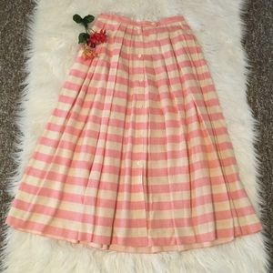 🌺 Vintage Ellen Tracy Maxi Pleated Striped Skirt